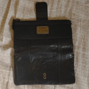 Black leather fossil wallet